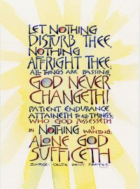 Let nothing disturb