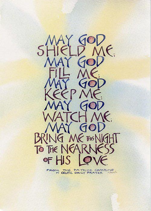 May God shield and