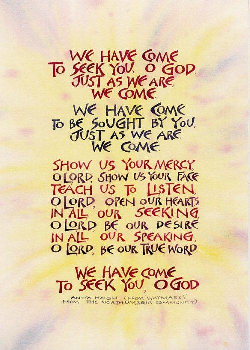 We call upon